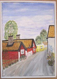 Drothem 34x25 cm målad av Marianne Larsson