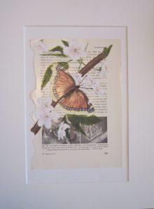 Sorgmantelfjäril 40x30 cm Målad av Nina Mårdfelt
